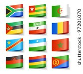 world flags. africa. vector. | Shutterstock .eps vector #97201070
