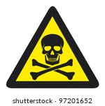 vector danger sign with skull... | Shutterstock .eps vector #97201652