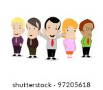 corporate leaders | Shutterstock .eps vector #97205618