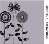 art beautiful floral vector... | Shutterstock .eps vector #97210805