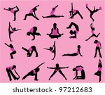 sports silhouettes | Shutterstock .eps vector #97212683