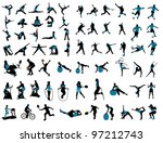 sports silhouettes | Shutterstock .eps vector #97212743