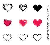 Heart Icons Vector Set
