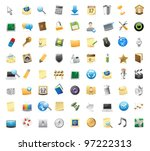 72 detailed vector icons for... | Shutterstock .eps vector #97222313