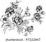 line flowers   Shutterstock .eps vector #97222847
