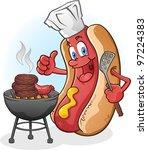 hot dog cartoon character... | Shutterstock .eps vector #97224383