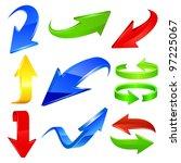 arrow icon set. vector | Shutterstock .eps vector #97225067