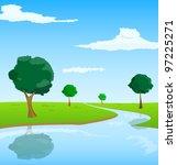 vector landscape | Shutterstock .eps vector #97225271