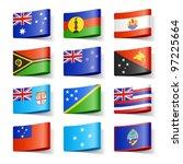 world flags. oceania. vector. | Shutterstock .eps vector #97225664