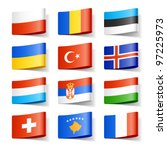 world flags. europe. vector. | Shutterstock .eps vector #97225973