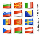 world flags. europe. vector. | Shutterstock .eps vector #97226267