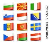 world flags. europe. vector.   Shutterstock .eps vector #97226267