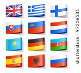 world flags. europe. vector. | Shutterstock .eps vector #97226531