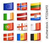 world flags. europe. vector. | Shutterstock .eps vector #97226693