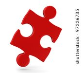 puzzle on white background.... | Shutterstock . vector #97226735