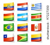 World flags. South America. Vector.