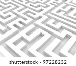 labyrinth 3d white | Shutterstock . vector #97228232