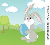 happy easter   vector | Shutterstock .eps vector #97229411