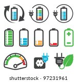 colorful battery icons  ... | Shutterstock .eps vector #97231961
