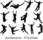 illustration of people jumping... | Shutterstock .eps vector #97243466