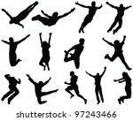 illustration of people jumping...   Shutterstock .eps vector #97243466