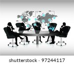 group of business people... | Shutterstock .eps vector #97244117