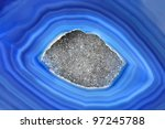 Agate detail - stock photo