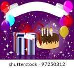 holiday empty banner with a... | Shutterstock .eps vector #97250312