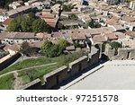 Carcassonne Village - stock photo