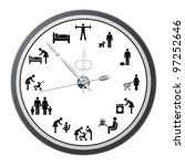 clock of icons of people  the... | Shutterstock . vector #97252646