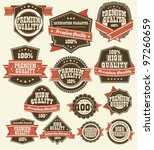 premium quality labels | Shutterstock .eps vector #97260659