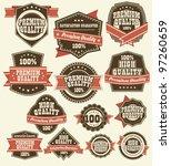 premium quality labels | Shutterstock .eps vector #97260659