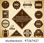 premium quality labels.... | Shutterstock .eps vector #97267427