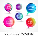 new vector bubbles for speech