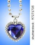 silver pendant against gradient ... | Shutterstock . vector #97271735