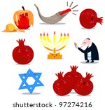 a pack of vector illustrations... | Shutterstock .eps vector #97274216