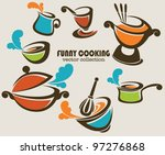 frying pans  woks and other... | Shutterstock .eps vector #97276868