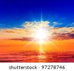 Sunrise Horizon Idyllic Heaven
