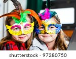 Two Funny Little Girls With...