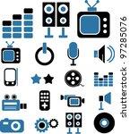 media icons  vector | Shutterstock .eps vector #97285076