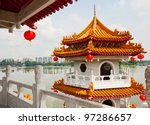 Pagoda On Lake In The Chinese...