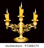 Illustration Candlestick Gold...