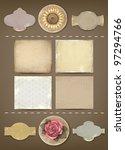 set of vintage labels and... | Shutterstock .eps vector #97294766