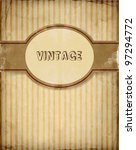 vector vintage invitation with...   Shutterstock .eps vector #97294772
