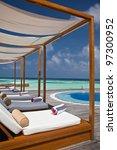luxury resort in the maldives | Shutterstock . vector #97300952