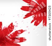 vector background with red... | Shutterstock .eps vector #97305425