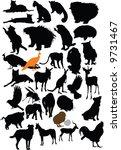 vector animals collection | Shutterstock .eps vector #9731467