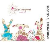 vector easter background ...   Shutterstock .eps vector #97319045