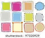 doodle frames | Shutterstock .eps vector #97320929