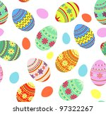 seamless pattern easter... | Shutterstock .eps vector #97322267